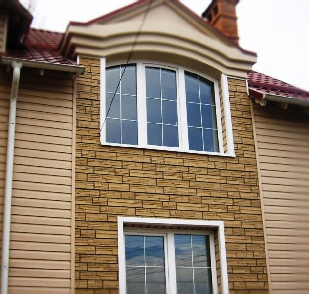 Дизайн фасада дома сайдингом фото